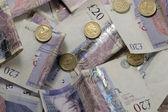 Twenty pound notes — Stock Photo