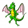 Green little dragon - Stock Photo