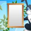 Photo frame with rabbit — Stock Photo
