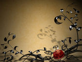 Background with metal floral design — Stock Photo
