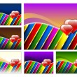 Set of valentines day backgrounds - Stockvectorbeeld