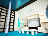 Marine interior in a modern style — Stock Photo
