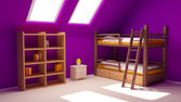 Child room on attic — Stock Photo
