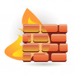 Firewall — Stock Vector