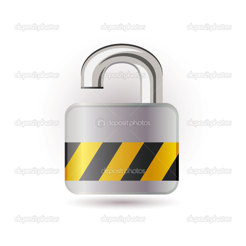 Open lock icon — Stock Vector #3923581