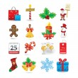 Christmas icon set — Vettoriali Stock