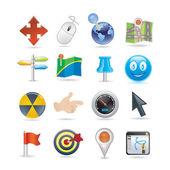 Pointers icon set — Stock Vector