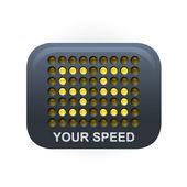 Speed counter — Stock Photo