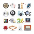 Set of entertainment icons - Stock Vector