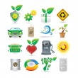 Stock Vector: Set of environment icons