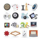 Conjunto de iconos de entretenimiento — Vector de stock