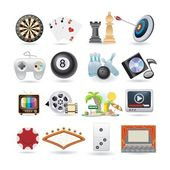 Set of entertainment icons — Vector de stock