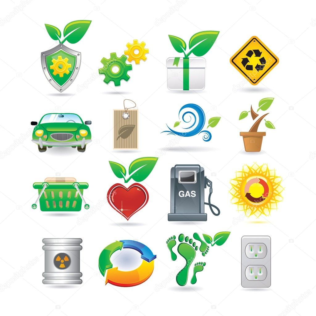 Set of environment icons — Stock Vector #4887713