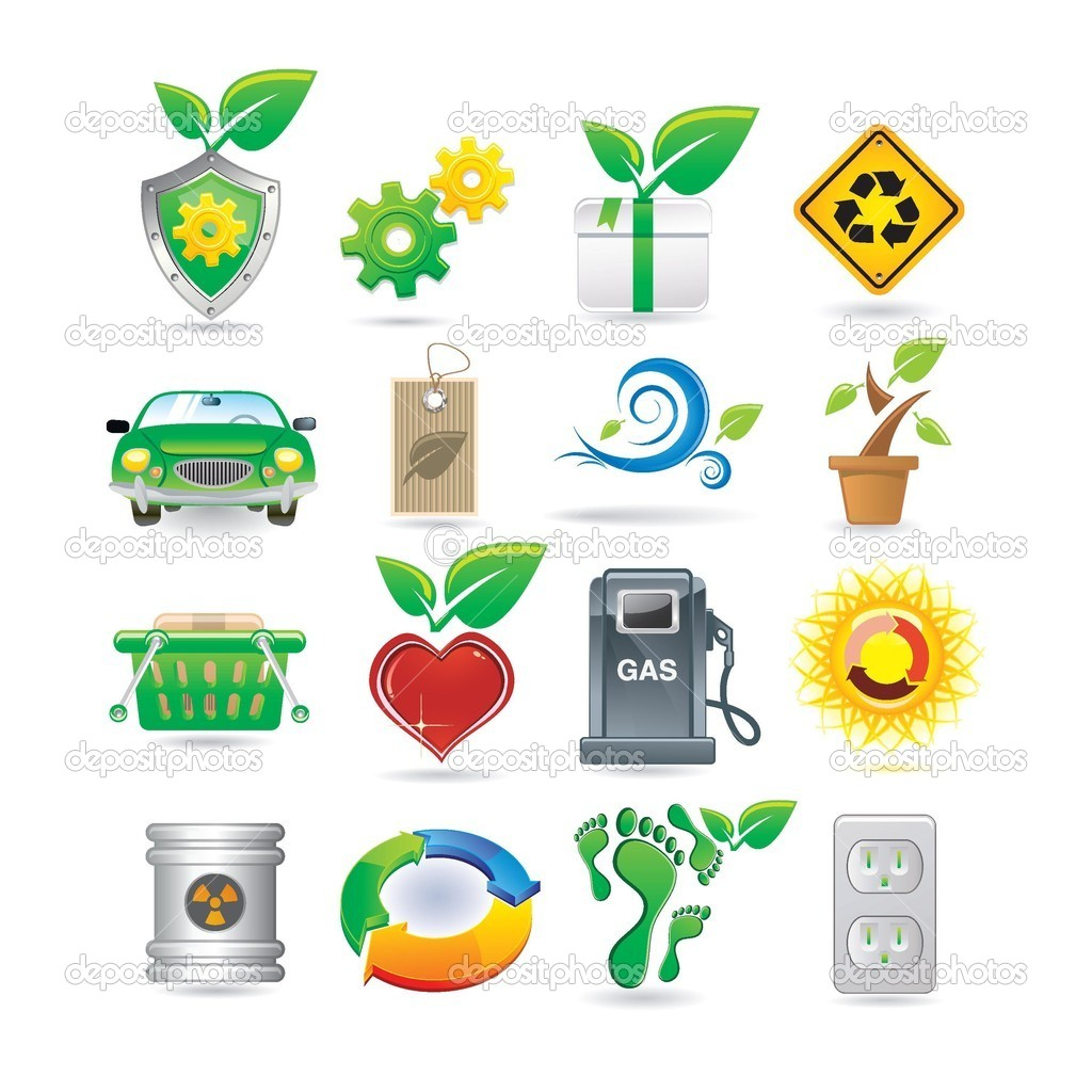Set of environment icons — Image vectorielle #4887713