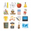 Education set of icons — Stock Vector