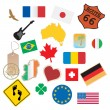 Set of flags and signs — Stock Vector