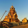 Construction of a new church. — Stock Photo