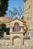 Fora o ícone para o agios stephanos st mosteiro de stephen em mete — Fotografia Stock