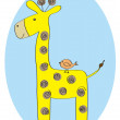 Stock Vector: Baby giraffe