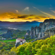 Stock Photo: Monasteries on rocks, Meteora, Greece
