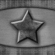 Metal plate with the star — Stock Photo