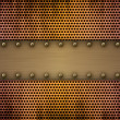 Metal plates on a metal grill — Stock Photo