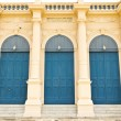 Traditional europe style building door - Foto Stock