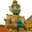 Traditional thai style giant statue - 图库照片