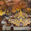 Traditional thai style painting - 图库照片