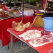 Stock Photo: Thai market pork stall