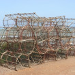 Crustacean fishing traps - Stock Photo