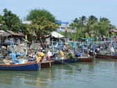 Thai fishing boats — Stock Photo