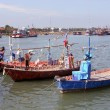 Fishing boats in Cha am, Thailand - Stock Photo