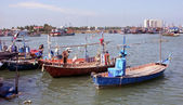 Fishing boats in Cha am, Thailand — Stock Photo