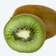 Stock Photo: Cut and whole fruit kiwi on white background