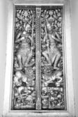 Temple door in Black and White color — Stock Photo