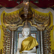 Stock Photo: WHite marble buddhstatue