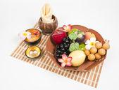 Bandeja de frutas saludables — Foto de Stock
