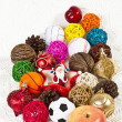 Stock Photo: Santwith many different balls