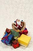 Santa kommen aus den samen — Stockfoto