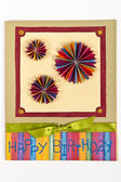 Handmade Happy birthday card — Stock Photo