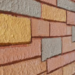 Drawing brick on wall background — Stock Photo