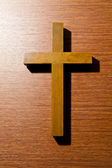 Close up wooden cross — Stock Photo