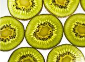 Close up slice of Kiwi fruit — Stock Photo