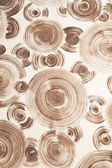 Brown spiral on wall background — Stockfoto