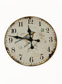 Old wall analog clock isolated on white background — Stock Photo