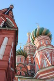 Moscow. Kremlin. Cupolas of Pokrovskiy of cathedral — Stock Photo