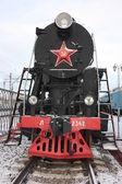 Old locomotive. Model L-2342. It is made in 1954. — Stok fotoğraf