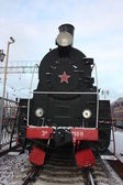 Old locomotive. Model 766-11. It is made in 1949. — Stock Photo