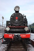 Old locomotive. Model 9P-17347. It is made in 1953. — Stock Photo